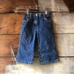 Gymboree Size 12-18 Month Heart Embroidered Jeans